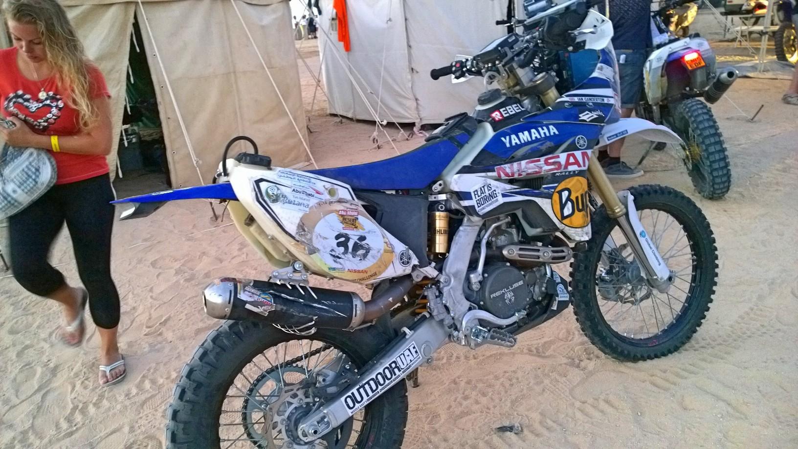 Abu Dhabi Desert Challenge 2015 Yamaha WR450F Rally 24