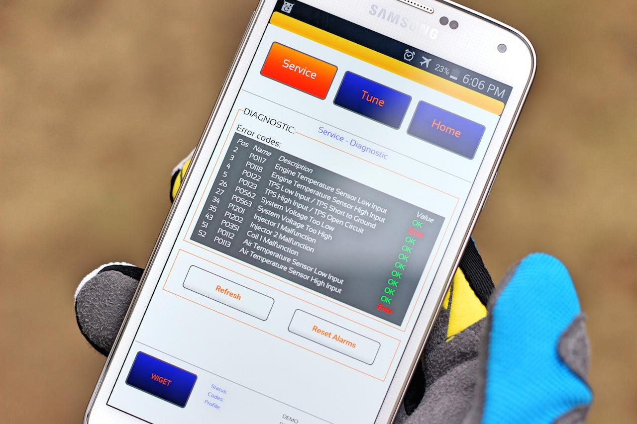 Ktm EXC Rally Kit 2 WiFi Diagnosis